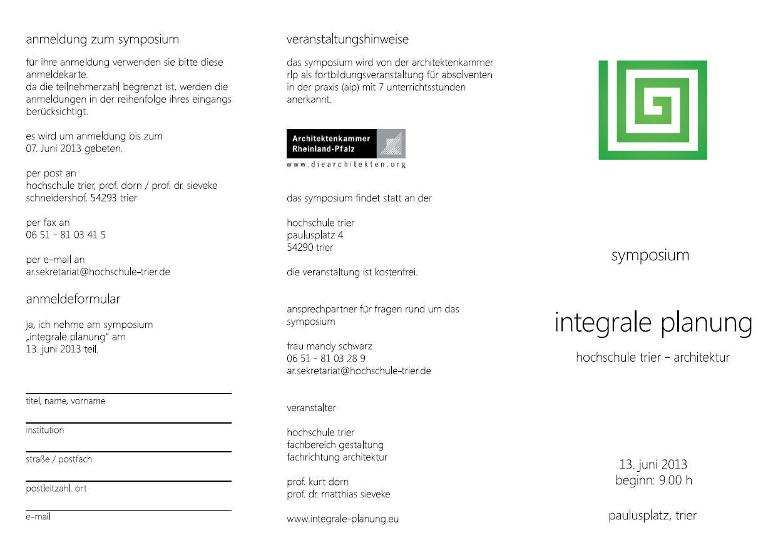 01-Integrale Planung 2013