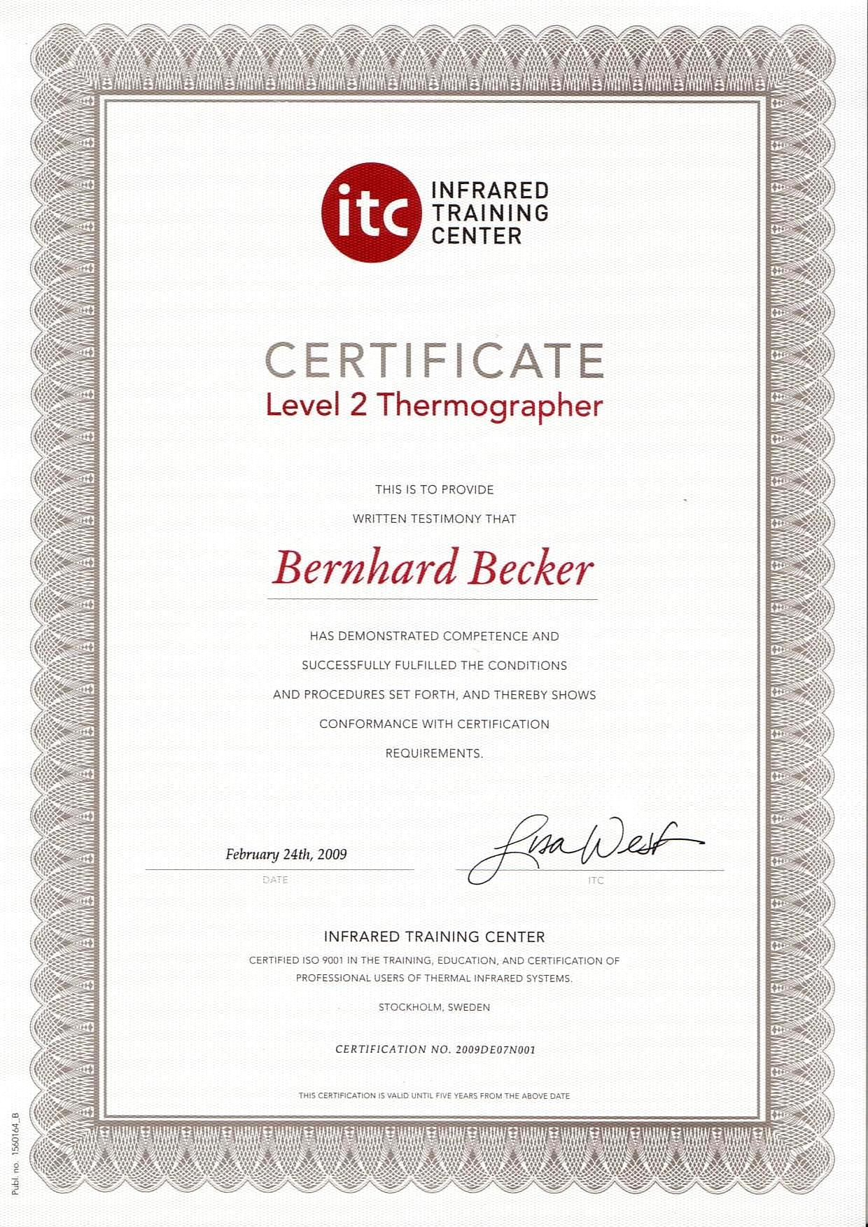 Zertifizierter Thermograph-Level-2